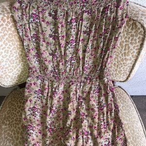 Dresses & Skirts - Sleeveless Flowered Romper